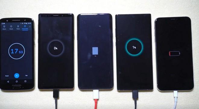 So sánh sạc nhanh trên Galaxy Note 10+ và OnePlus 7, iPhone XS Max: Bất ngờ đã xảy ra - Ảnh 4.