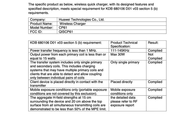 Huawei vừa đạt chứng nhận sạc không dây siêu nhanh 30W từ FCC. Liệu Mate 30 sẽ được trang bị công nghệ này? - Ảnh 2.