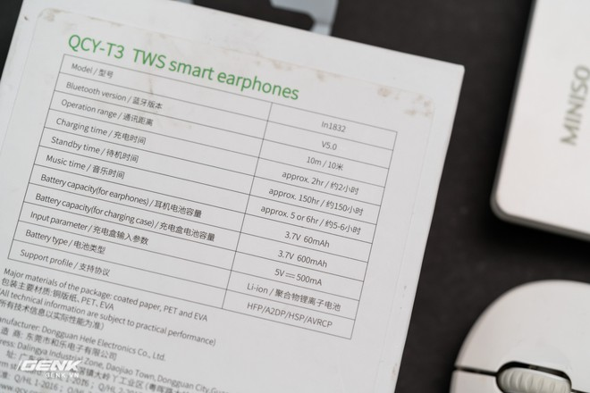 Đánh giá tai nghe true wireless giá rẻ QCY T3 - Vẻ ngoài con quạ, hót như họa mi - Ảnh 2.
