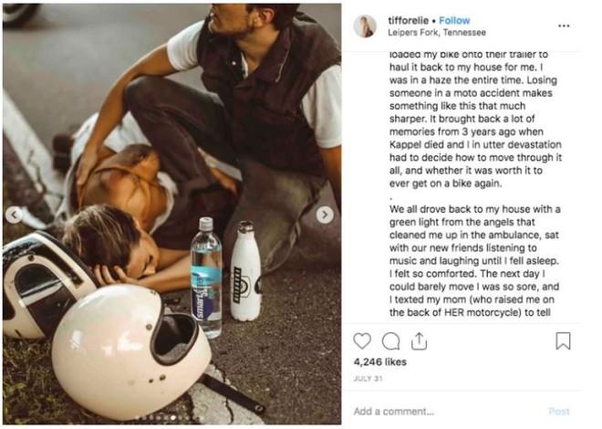 Bị tai nạn xe máy mà vẫn có bộ ảnh cực nghệ, hot Instagrammer bị cộng đồng mạng mắng cho 1 trận vì tội dàn cảnh sống ảo - Ảnh 4.