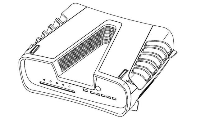 Thiết kế Playstation 5 cuối cùng cũng bị lộ, mang kiểu dáng khoa học viễn tưởng đầy hầm hố? - Ảnh 1.