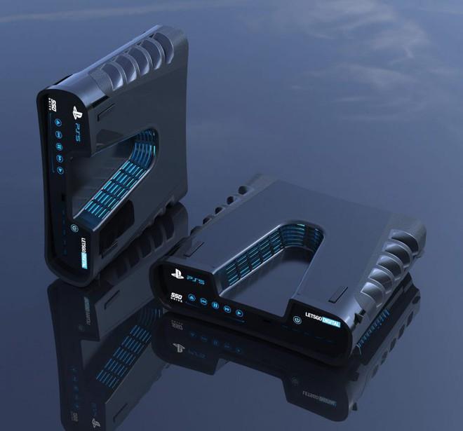 Thiết kế Playstation 5 cuối cùng cũng bị lộ, mang kiểu dáng khoa học viễn tưởng đầy hầm hố? - Ảnh 2.