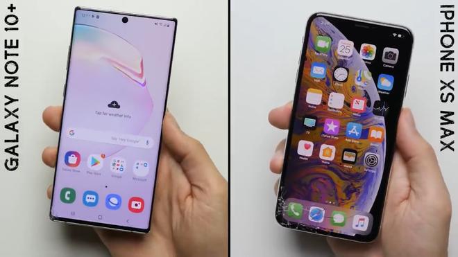 Rõ ràng cong là thế nhưng màn hình Galaxy Note 10+ lại bền hơn iPhone XS Max trong bài kiểm tra thả rơi - Ảnh 3.