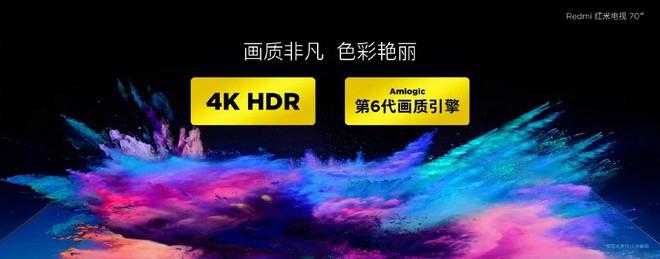 Redmi TV với màn hình 4K HDR 70 inch, RAM 2 GB vừa chính thức ra mắt với giá 531 USD - Ảnh 3.