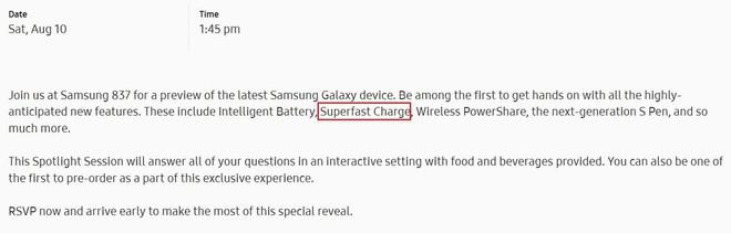 Samsung vô tình tiết lộ tính năng pin thông minh và sạc siêu nhanh sẽ có trên Galaxy Note 10 - Ảnh 1.