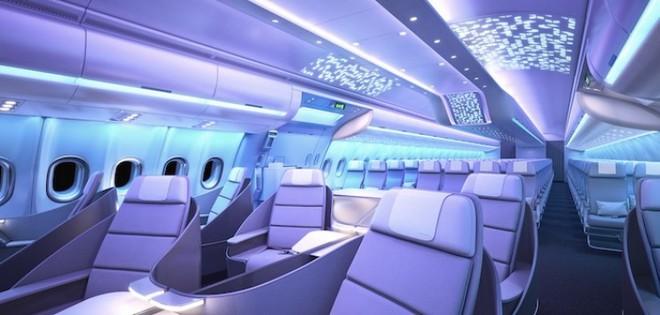 Cận cảnh dàn nội thất siêu hiện đại sắp được trang bị cho các máy bay của Airbus trong tương lai - Ảnh 4.