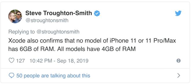 iPhone 11, iPhone 11 Pro và 11 Pro Max cùng có 4GB RAM - Ảnh 2.