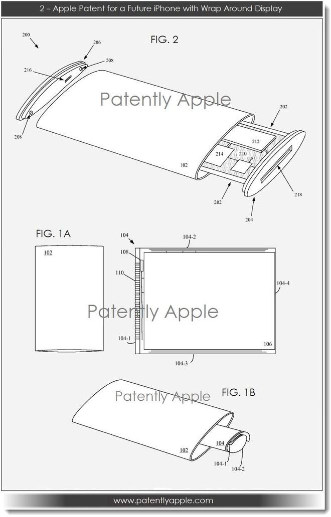 Xiaomi Mi Mix Alpha rất giống bằng sáng chế điện thoại màn hình bao quanh của Apple trước đây - Ảnh 3.