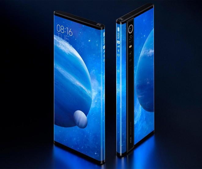 Xiaomi Mi Mix Alpha rất giống bằng sáng chế điện thoại màn hình bao quanh của Apple trước đây - Ảnh 1.
