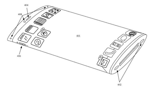 Xiaomi Mi Mix Alpha rất giống bằng sáng chế điện thoại màn hình bao quanh của Apple trước đây - Ảnh 2.
