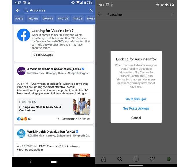 Facebook áp dụng tính năng mới giúp người dùng tránh phơi nhiễm thông tin chống vắc-xin - Ảnh 1.