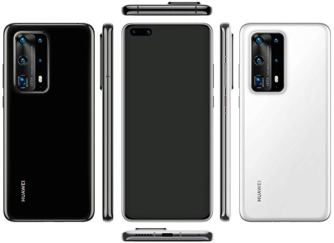 Huawei P40 Pro lộ ảnh render với cụm 5 camera siêu to khổng lồ - Ảnh 1.