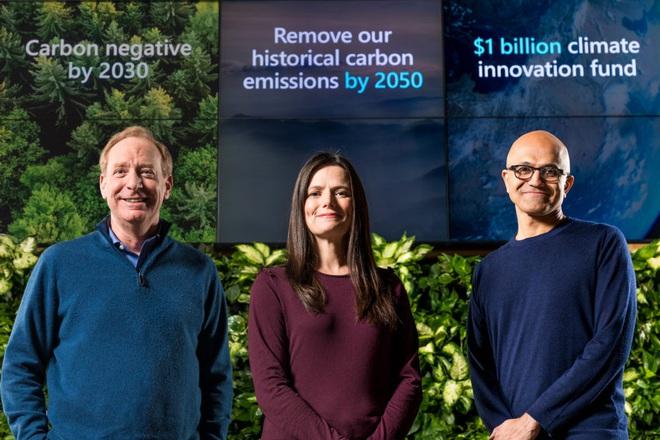 Microsoft cam kết giảm lượng carbon thải ra, đầu tư 1 tỷ USD vào công nghệ thu thập và lưu trữ CO2 trong không khí - Ảnh 1.
