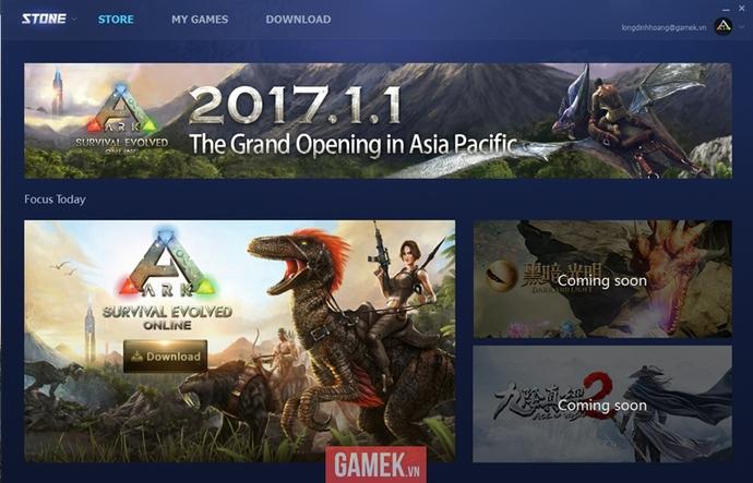 Click vào Ark Survival Evolved Online