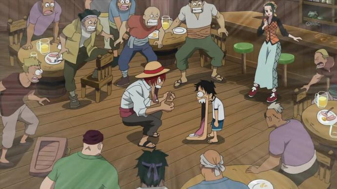 Đây chính là cái mặt Luffy sau khi ăn trái Gomu Gomu lần đầu tiên.