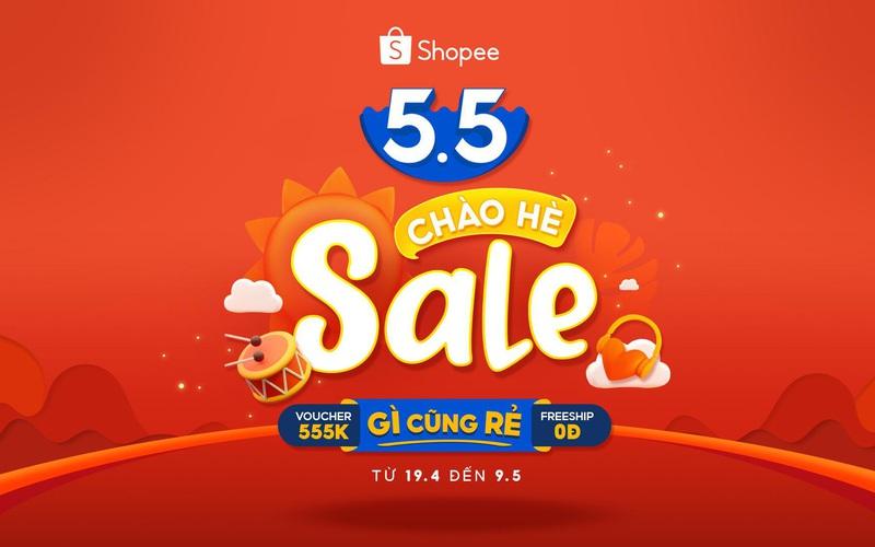Shopee 5.5 Sale Chào Hè: Canh giờ săn sale hàng đỉnh giá hời còn kèm ưu đãi