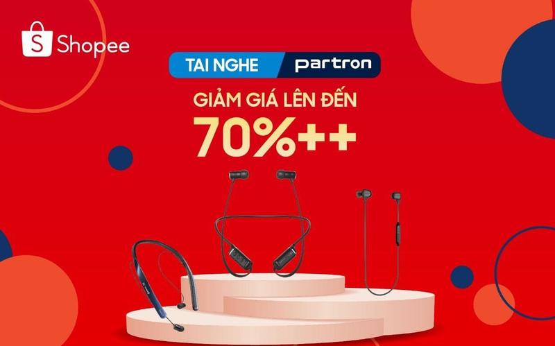 Trợ giá mùa dịch – giảm kịch sàn tới 70% các mẫu tai nghe Bluetooth Partron trên Shopee