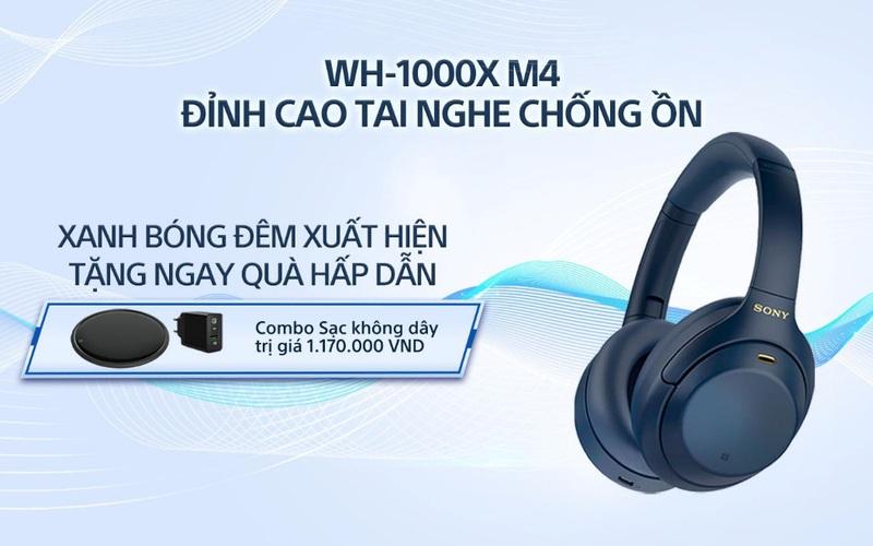 Sony giới thiệu tai nghe chống ồn đỉnh cao WH-1000XM4 phiên bản Xanh bóng đêm hoàn toàn mới
