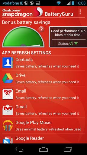 BatteryGuru: Tăng thời lượng pin cho thiết bị dùng chip Snapdragon 1