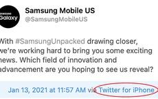 Samsung lại dùng iPhone để đăng quảng cáo Galaxy Unpacked trên Twitter: Chiêu trò hay lầm lỡ?