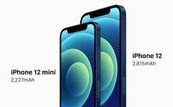 iPhone 12 có dung lượng pin thấp hơn iPhone 11