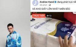 Fanpage rapper Andree vừa bị hack, ngay lập tức livestream xả kho bán hàng