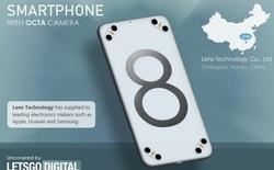 Xuất hiện bằng sáng chế về một chiếc smartphone có tới 8 camera sau và 4 đèn flash LED?