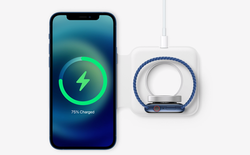 Lộ video thực tế sạc không dây MagSafe Duo của Apple, có thể sạc cùng lúc 2 thiết bị, giá 129 USD