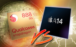 Chip Apple A13 và A14 đè bẹp Snapdragon 888 của Qualcomm trong bài benchmark đầu tiên