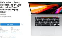 Apple vừa đưa MacBook Pro 16 inch mới nhất vào gian hàng refurbished, giá bán giảm gần 400 USD