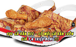 KFC ra mắt đôi sục cực dị có họa tiết và mùi vị gà rán, giá gần 1,4 triệu đồng