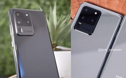 """Galaxy S20 Ultra lộ ảnh thực tế với cụm camera """"Space Zoom 100X"""" siêu to khổng lồ"""