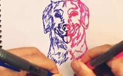 """Anh họa sĩ """"2 tay 2 bút"""" vẽ tranh ngon lành, truyền nhân môn võ Song thủ hổ bác trong truyện Kim Dung là đây chứ đâu"""