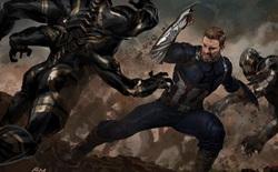 Bản vẽ concept Infinity War cho thấy đáng lẽ Cap sở hữu chiếc khiên vừa ngầu lòi, vừa nguy hiểm chết người thế này đây