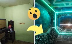 Khéo tay hay làm: Anh họa sĩ hô biến căn phòng thành khoang tàu vũ trụ cho con gái chơi khi ở nhà tránh Covid-19