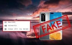 """Huawei lại bị """"bắt quả tang"""" dùng ảnh chụp bằng DSLR để quảng cáo cho camera smartphone"""
