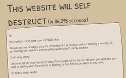 Quyết không sống mãi kiếp zombie, website này sẽ tự hủy nếu trong vòng 24 giờ không có nội dung nào được đăng lên