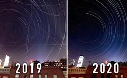 2 bức ảnh cho thấy Covid-19 đã 'dọn sạch' bầu trời thành phố New York như thế nào