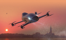 Hết đua xe trên mặt đất, con người giờ lại muốn đua trên trời: Tổ chức cuối 2020, dùng mẫu xe bay 'viễn tưởng' này để thi đấu