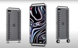 """Concept iPhone 12 """"điên rồ"""" chưa từng thấy, trông chẳng khác gì cái bàn nạo phô mai được gắn bánh xe như Mac Pro"""