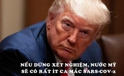 Tổng thống Trump: Nếu dừng xét nghiệm, nước Mỹ sẽ có rất ít ca mắc Covid-19