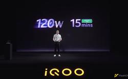 iQOO ra mắt sạc nhanh 120W đầu tiên trên thế giới, sạc đầy pin smartphone chỉ trong 15 phút