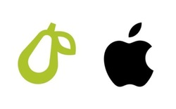 Apple cho rằng logo quả lê này giống với quả táo của mình, yêu cầu công ty sử dụng phải thay đổi thiết kế