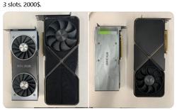 Quái thú Nvidia RTX 3090 lộ diện, to gần gấp đôi RTX 2080, thiết kế tản nhiệt mới, giá 2.000 USD