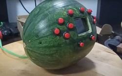 """YouTuber """"hô biến"""" quả dưa hấu thành 1 chiếc Game Boy cực chất, chơi được game ngon lành"""