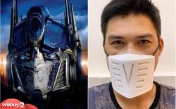 """Review nhanh khẩu trang """"Optimus Prime"""" siêu ngầu, muốn tái sử dụng bao nhiêu lần đều được"""