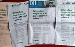 Ấn Độ yêu cầu WhatsApp hủy kế hoạch chia sẻ dữ liệu với Facebook