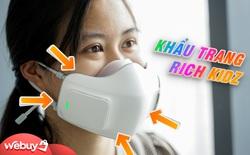 """Khẩu trang lọc bụi dành riêng cho """"Rich Kidz"""" LG Puricare: Giá mua hơn 3 triệu, mỗi tháng tiền phụ kiện thêm 500k, bạn có dám?"""