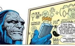 Tại sao Darkseid lại quên đi vị trí của phương trình phản sự sống?