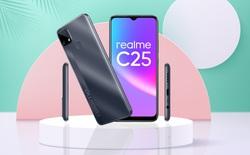 Realme C25 ra mắt tại VN: Thiết kế trẻ trung, cụm 3 camera 48MP, pin khủng 6000mAh, giá từ 4.69 triệu đồng